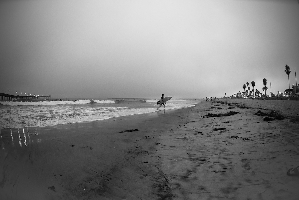 One of a series of landscape and beach scene photographs taken by Matthew Butterfield in Ocean Beach, near San Diego, California, USA.