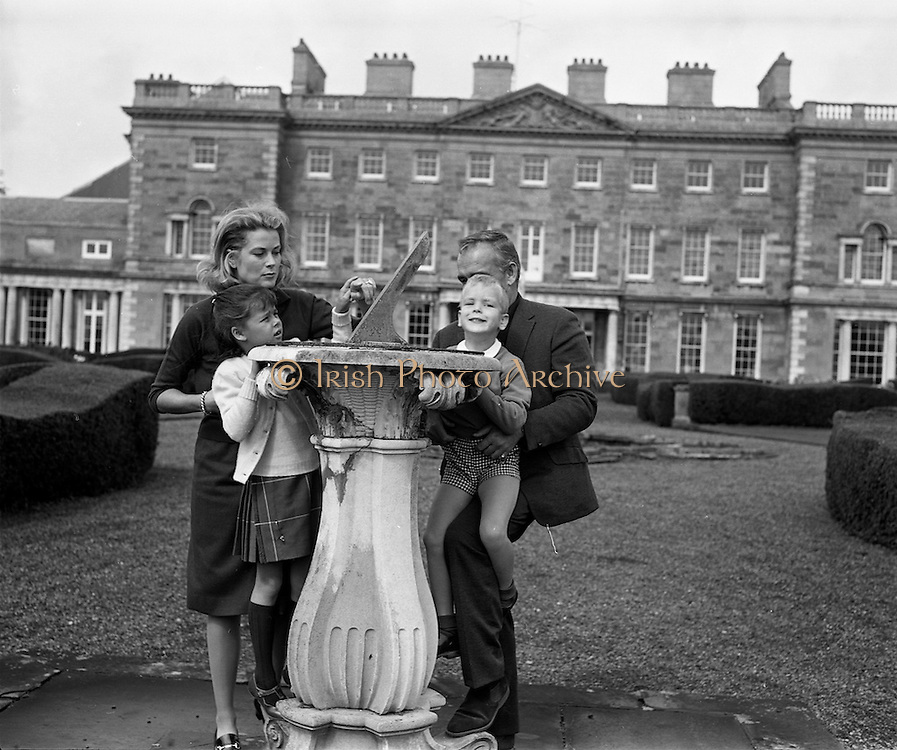 26/08/1963<br /> 08/26/1963<br /> 26 August 1963<br /> Royal Visit by Prince Rainier and Princess Grace of Monaco. Princess Grace; Princess Caroline; Prince Rainier and Prince Albert examine a sundial on the grounds of Carton House, Maynooth, Co. Kildare as they start their three week Irish holiday.