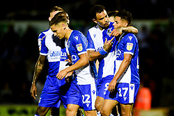 Jonson Clarke-Harris of Bristol Rovers celebrates scoring his sides third goal of the game with Tyler Smith of Bristol Rovers  - Mandatory by-line: Ryan Hiscott/JMP - 13/08/2019 - FOOTBALL - Memorial Stadium - Bristol, England - Bristol Rovers v Cheltenham Town - Carabao Cup