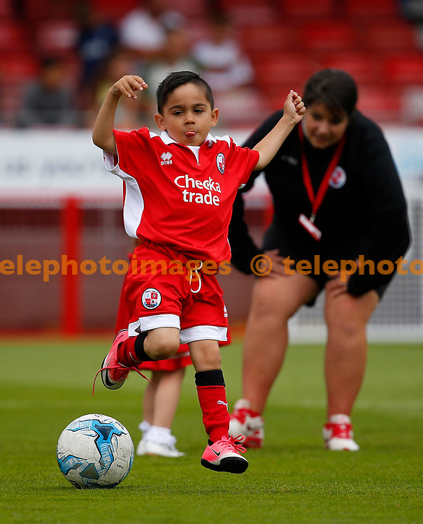 Crawley Town mascot during the pre season friendly between Crawley Town and Chelsea XI at the Checkatrade Stadium in Crawley. 15 Jul 2017