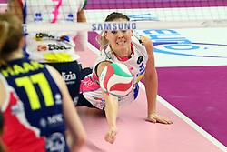 22-11-2017 ITA: Savino Del Bene Scandicci - Igor Gorgonzola Novara, Scandicci<br /> Lauren Gibbemeyer #5 of Novara<br /> <br /> <br /> *** NETHERLANDS USE ONLY ***