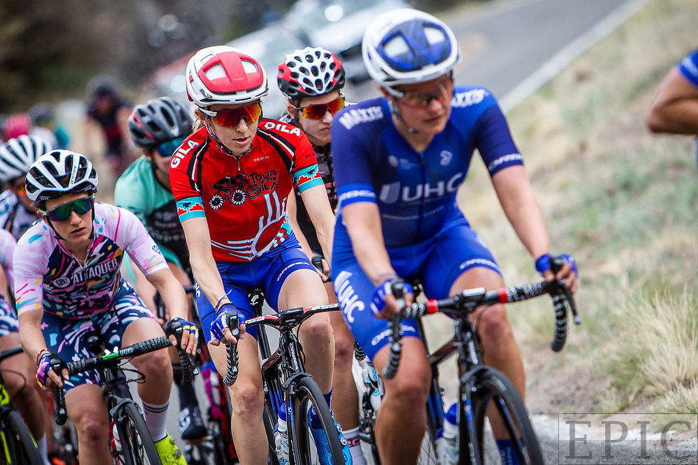 SILVERY CITY, NM - APRIL 22: Katharine Hall (UnitedHealthcare Pro Cycling Team) rides in the bunch during stage 5 of the Tour of The Gila on April 22, 2018 in Silver City, New Mexico. (Photo by Jonathan Devich/Epicimages.us)