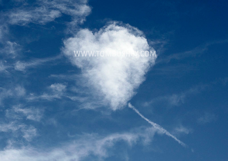 Middletown, NY -A heart-shaped cloud  on June 27, 2009.