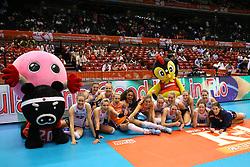21-05-2016 JAP: OKT Nederland - Peru, Tokio<br /> De Nederlandse volleybalsters winnen met 3-0 en plaatsen zich als eerste voor Rio / Vreugde bij Nederland