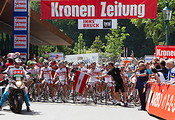 01.07.2012, Innsbruck, AUT, 64. Oesterreich Rundfahrt, 1. Etappe, EZF Innsbruck, im Bild der Start during the 64rd Tour of Austria, Stage 1, Individual time trial in Innsbruck, Austria on 2012/07/01