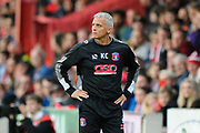 Carlisle Utd manager Keith Curle on the touchline during the EFL Sky Bet League 2 play off second leg match between Exeter City and Carlisle United at St James' Park, Exeter, England on 18 May 2017. Photo by Graham Hunt.