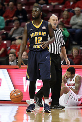 13 December 2015:  Gee McGhee(12) official Rick Randall.  Illinois State Redbirds host the Murray State Racers at Redbird Arena in Normal Illinois (Photo by Alan Look)