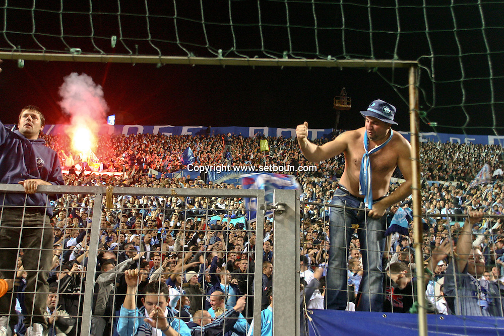 = match footbal Olympique de marseille against  lyon supporters  France ////Football game OM Lyon    Marseille  France  +/L0008554
