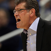 Connecticut head coach Geno Auriemma during the Connecticut V Notre Dame Final match won by Notre Dame during the Big East Conference, 2013 Women's Basketball Championships at the XL Center, Hartford, Connecticut, USA. 11th March. Photo Tim Clayton