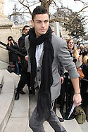 PARIS, FRANCE - JANUARY 24:  Baptiste Giabiconi arrives at the Chanel Haute-Couture Spring / Summer 2012 Show as part of Paris Fashion Week at Grand Palais on January 24, 2012 in Paris, France.  (Photo by Tony Barson/Getty Images)