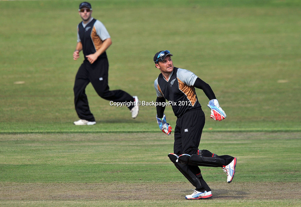 Brendon McCullum (c) , New Zealand during the 2012 New Zealand Tour South Africa cricket International T20 match between South Africa A v New Zealand at the The Oval  in Pietermaritzburg , December 18 , 2012<br />   <br /> <br /> &copy; Sabelo Mngoma/BackpagePix