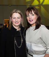 Fionnuala McCormack, Claregalway and Milliner Catriona King who judged the Best dressed Choir at Choir Factor in the Radisson Blu.<br /> Choir Factor is a fundraiser for The Sccul Sanctuary, Therapeutic Support Centre in Kilcornan Clarenbrdge.<br /> <br />  Photo:Andrew Downes, xposure.