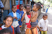 Madagascar, A group of young Madagascan children