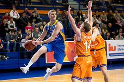 Jan Novak of KK Sencur during basketball match between KK Helios Suns and KK Sencur in Playoffs of Liga Nova KBM 2017/18, on April 7, 2018 in Domzale, Slovenia. Photo by Urban Urbanc / Sportida