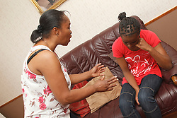 Mother shouting at daughter. Cleared for Mental Health issues.