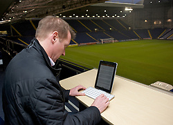 WEST BROMWICH, ENGLAND - Sunday, December 5, 2010: An Apple iPad, used by British Daily Telegraph football writer Henry Winter during the Premiership match between West Bromwich Albion and Newcastle United at the Hawthorns. (Pic by: David Rawcliffe/Propaganda)