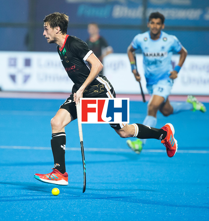 BHUBANESWAR - Hockey World League finals Match for bronze , Germany v India (1-2). Florian Fuchs (Ger)  COPYRIGHT KOEN SUYK