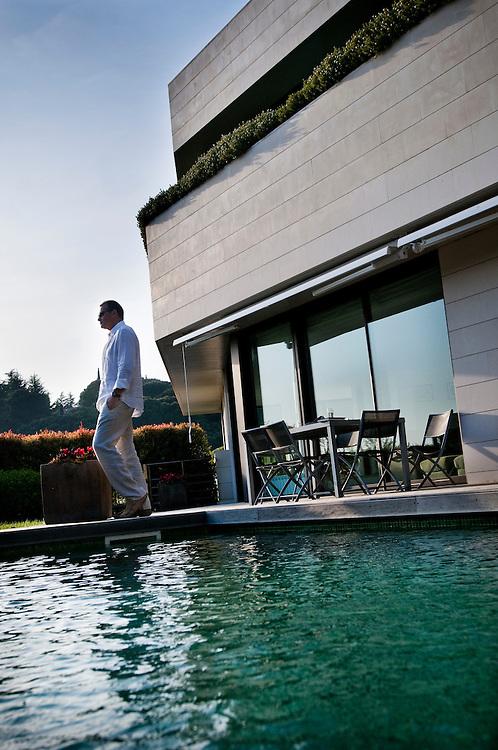 Russian businessman Alex Konanykhin at his residence outside Barcelona, Spain..(b. Alexandre Pavlovich Konanykhine)..Photographer: Chris Maluszynski /MOMENT