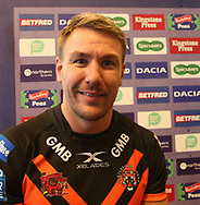 Michael Shenton of Castleford Tigers during the media launch for the Betfred Super League 2018 season at the John Smiths Stadium, Huddersfield<br /> Picture by Stephen Gaunt/Focus Images Ltd +447904 833202<br /> 25/01/2018