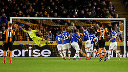 Robert Snodgrass of Hull City scores from a free kick as Everton goalkeeper Joel Robles stretches in attempt to save - Mandatory by-line: Matt McNulty/JMP - 30/12/2016 - FOOTBALL - KCom Stadium - Hull, England - Hull City v Everton - Premier League