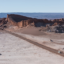 Road leading to the three Mary's in Valle de la Luna, Valley of the Moon, Chile.