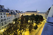 France.Paris. 1st district elevated view. place Dauphine, on city island