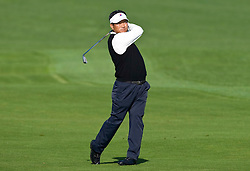 February 14, 2010; Pebble Beach, CA, USA;  K.J. Choi on the second hole during the final round of the AT&T Pebble Beach Pro-Am at Pebble Beach Golf Links.