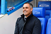 Reading manager Jose Gomes smiles during the EFL Sky Bet Championship match between Reading and Brentford at the Madejski Stadium, Reading, England on 13 April 2019.