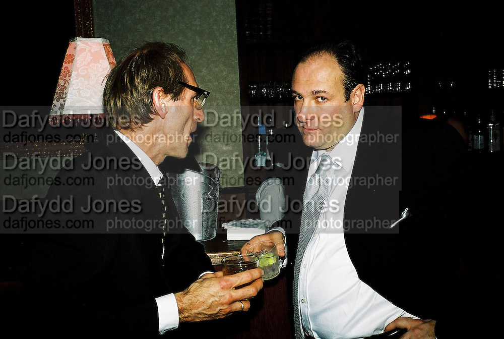 James Gandolfini and Milo Reice. Post Golden Globes Miramax party. Beverley Hilton. 21 January 2001. © Copyright Photograph by Dafydd Jones 66 Stockwell Park Rd. London SW9 0DA Tel 020 7733 0108 www.dafjones.com
