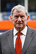 Ex Luton Town Manager, David Pleat, before the Skrill Conference Premier match at Kenilworth Road, Luton<br /> Picture by David Horn/Focus Images Ltd +44 7545 970036<br /> 12/04/2014