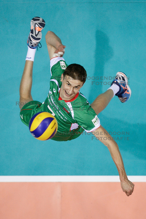 07.09.2014, Ergo Arena, Danzig, POL, FIVB WM, Russland vs Bulgarien, Gruppe C, im Bild miroslav gradinarov // during the FIVB Volleyball Men's World Championships Pool C Match beween Russia and Bulgaria at the Ergo Arena in Danzig, Poland on 2014/09/07.<br /> <br /> ***NETHERLANDS ONLY***