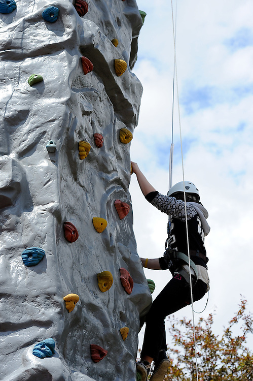 Activities at Hatfield Town Centre on the day the Olympic Torch Relay passes through Hatfield, Herts,