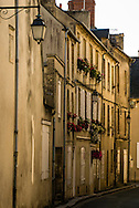A row of typical French homes in Bayeux, France.