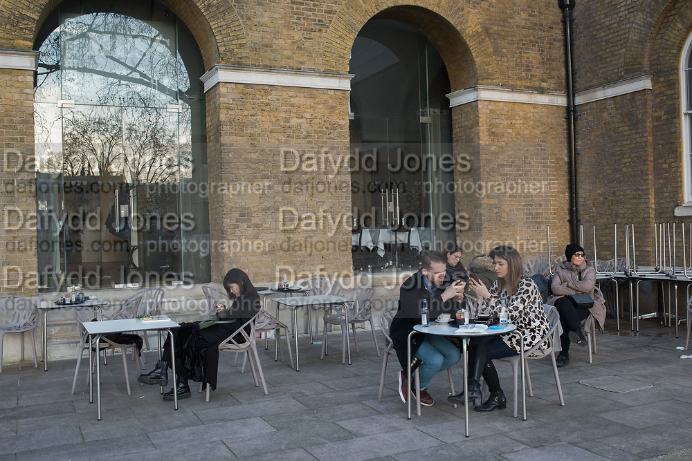 Outside Saatchi gallery, London, 22 February 2019