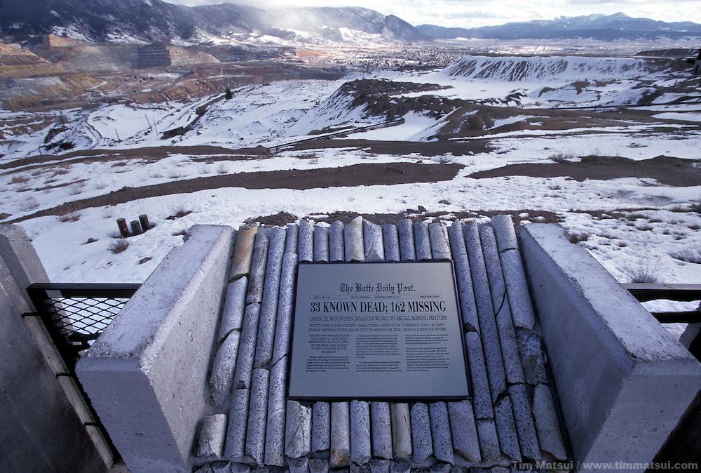 Butte copper mine memorial, Butte, MT.