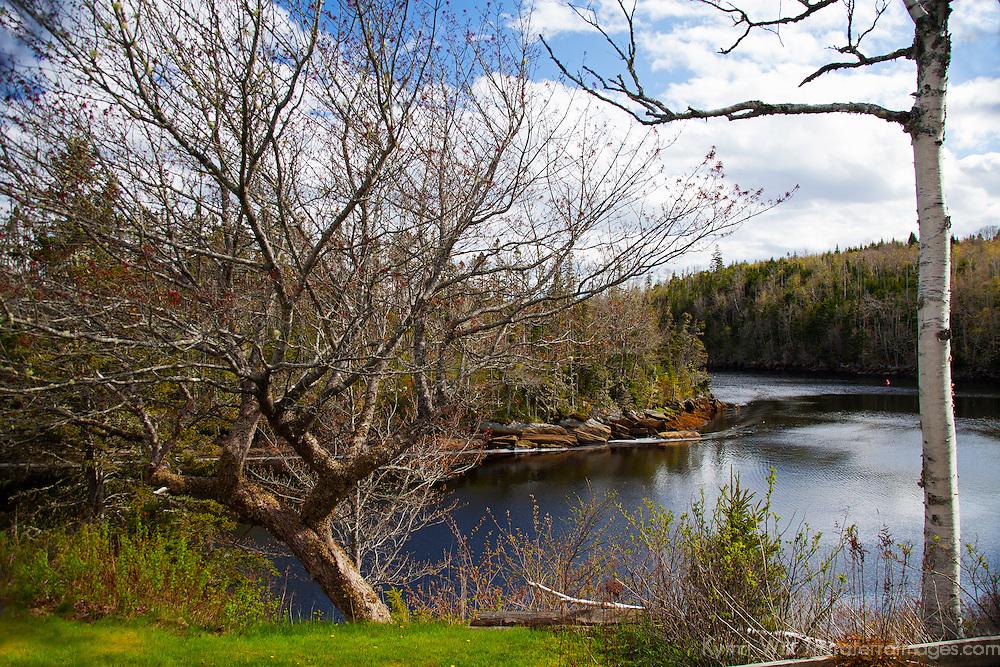 North America, Canada, Nova Scotia, Eastern Shore. Liscombe River at Liscombe Mills.