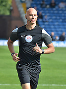 referee Darren Drysdale and  during the Sky Bet League 1 match between Bury and Port Vale at Gigg Lane, Bury, England on 19 September 2015. Photo by Mark Pollitt.