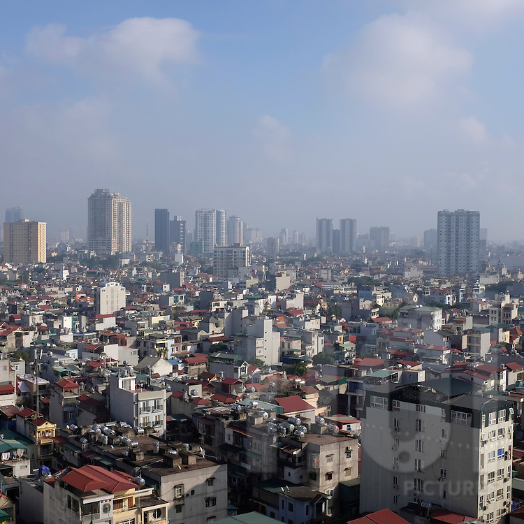 Hanoi skyline seen from Hapulico complex, Vietnam, Southeast Asia