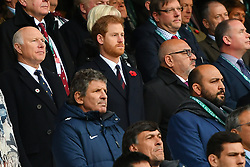 November 11, 2017 - London, England, United Kingdom - His Royal Highness Prince Harry stands for the 'Last Post' during Old Mutual Wealth Series between England against Argentina at Twickenham stadium , London on 11 Nov 2017  (Credit Image: © Kieran Galvin/NurPhoto via ZUMA Press)