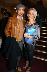 Singer SARAH HARDING and JOE MOTT at the opening night of Cirque Du Soleil's 'Alegria' held at the Royal Albert, London on 5th January 2007.<br />