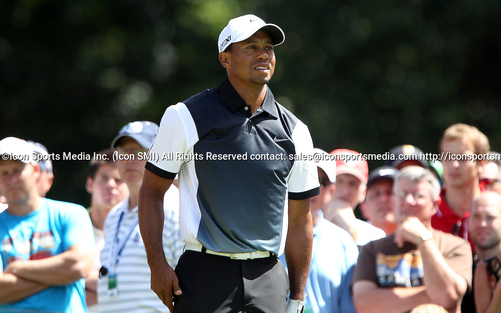 August 10 2013 Tiger Woods  during the third round of the 95th PGA Championship at Oak Hill Country Club in Rochester, New York.