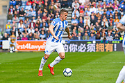Jonathan Hogg of Huddersfield Town (6) in action during the Premier League match between Huddersfield Town and Leicester City at the John Smiths Stadium, Huddersfield, England on 6 April 2019.