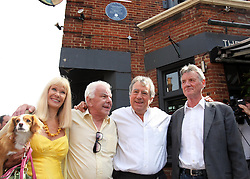 Carol Cleveland,Barry Cryer, Michael Palin and Terry Jones  at the unveiling of a  blue plaque dedicated to former Monty Python Graham Chapman at his local pub the Angel in Highgate, North London, Thursday, 6th September 2012  Photo by: Stephen Lock / i-Images