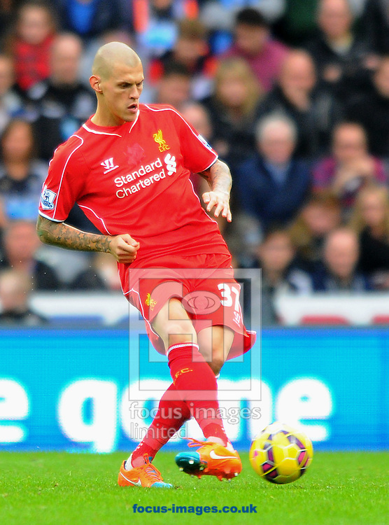 Martin Skrtel of Liverpool passes the ball during the Barclays Premier League match at St. James's Park, Newcastle<br /> Picture by Greg Kwasnik/Focus Images Ltd +44 7902 021456<br /> 01/11/2014