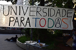 May 26, 2019 - SãO Paulo, Brazil - SÃO PAULO, SP - 26.05.2019: ATO UNIVERSIDADE PARA TODOS - Students and researchers do an act on Av. Paulista in favor of Universidade Para Todos, against federal funding cuts on Sunday (26) (Credit Image: © Roberto Casimiro/Fotoarena via ZUMA Press)