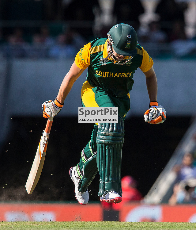 ICC Cricket World Cup 2015 Tournament Match, South Africa v West Indies, Sydney Cricket Ground; 27th February 2015<br /> South Africa&rsquo;s Rilee Rossouw runs through for a quick single