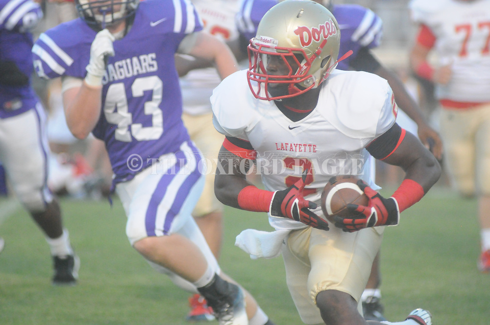 Lafayette High's D.K. Buford (2) vs. Desoto Central on Friday, September 6, 2013. Lafayette High won 21-6.