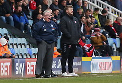 Peterborough United Manager Steve Evans shouts from the touchline alongside Charlton Athletic manager Karl Robinson - Mandatory by-line: Joe Dent/JMP - 10/03/2018 - FOOTBALL - ABAX Stadium - Peterborough, England - Peterborough United v Charlton Athletic - Sky Bet League One