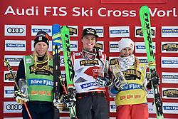12.02.2017, Idre Fj&auml;ll, SWE, FIS Weltcup Ski Cross, Idre Fj&auml;ll, im Bild v.l. Sandra N&auml;slund (SWE), Marielle Thompson (CAN), Fanny Smith (SUI) // during the FIS Ski Cross World Cup in Idre Fj&auml;ll, Sweden on 2017/02/12. EXPA Pictures &copy; 2017, PhotoCredit: EXPA/ Nisse Schmidt<br /> <br /> *****ATTENTION - OUT of SWE*****
