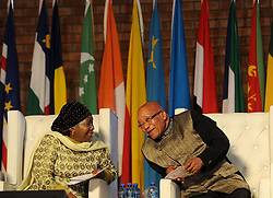 PRETORIA, May 24, 2015  South African President Jacob Zuma (R) chats with African Union Commission Chairperson Nkosazana Dlamini-Zuma on the Africa Day Celebration in Mamelodi, Pretoria, South Africa, on May 24, 2015. South African President Jacob Zuma on Sunday marked Africa Day, pledging to continue working in unity and to make Africa a continent of hope for the youth and future generations. (Xinhua/DOC/Kopano Tlape) (Credit Image: © Doc/Kopano Tlape/Xinhua/ZUMA Wire)